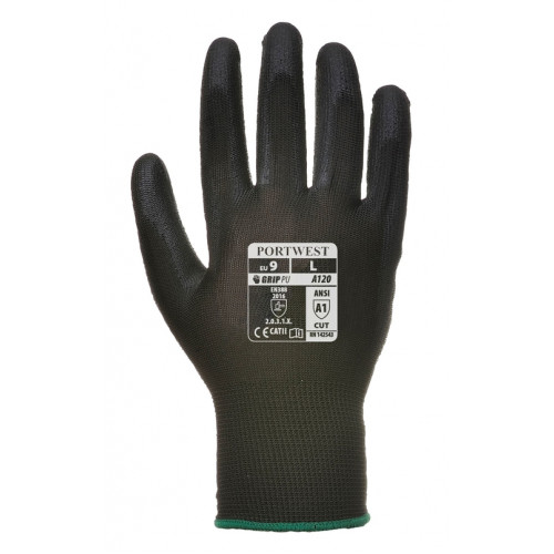 PU Coated Palm Work Gloves A120 -12 Pairs- Portwest