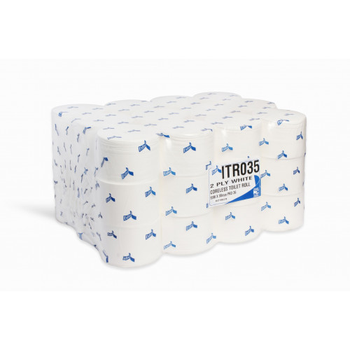 Coreless Compact Toilet Tissue Paper 96m 2ply 36 Rolls