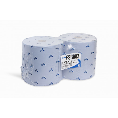 Maxi / Monster Car Bodyshop Paper Wiping Roll Blue 2 ply 370M - FSR003N