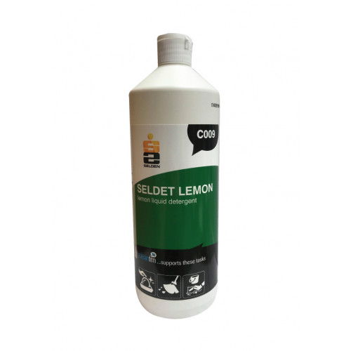 Seldet Lemon Washing up Liquid Detergent C009 1 Litre Selden