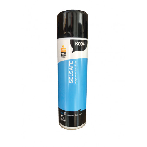 Selsafe Air Freshener / Telephone Sanitiser Aerosol K004 480ml Selden
