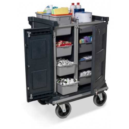 NCG4000AT Enclosed Janitorial Trolleys Large Wheels