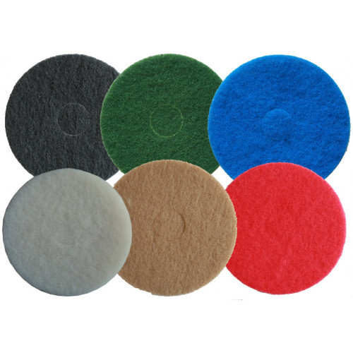 Floor Cleaning Pads Multiple Sizes Multiple Colours 5 Pack