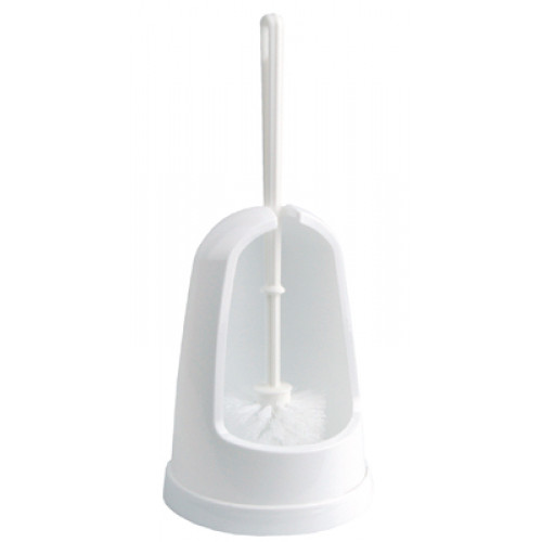 White Open Side Toilet Brush & Holder from Robert Scott