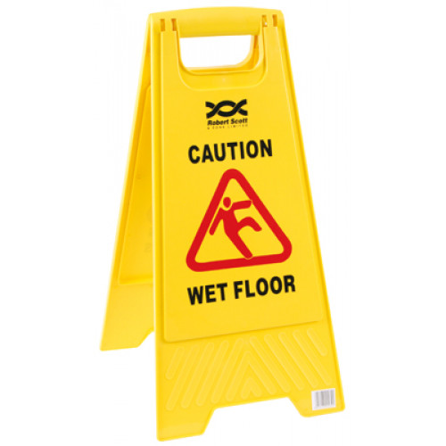 Wet Floor & Cleaning In Progress Warning Sign