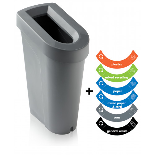 uBin Recycling Waste Bin System - Made from Recycled Plastic